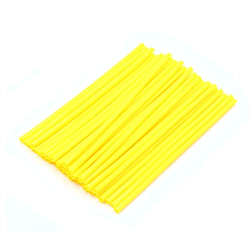Wire Wheels Motorcycle Spoke (uxcell 36pcs 17cm Length Motorcycle Wheel Steel Wire Spoke Reflective Clip Tube Yellow)