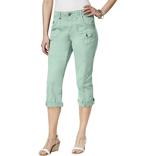 Style & Co. Womens Twill Cuffed Capri Pants Blue 18 - Cuffed Twill Capri