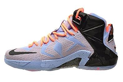 promo code 7bdd6 cd008 Amazon.com   Nike Lebron XII Easter Mens  Shoes Aluminium Sunset Glow-Hot  Lava-Black 684593-488 (8.5 D(M) US)   Basketball