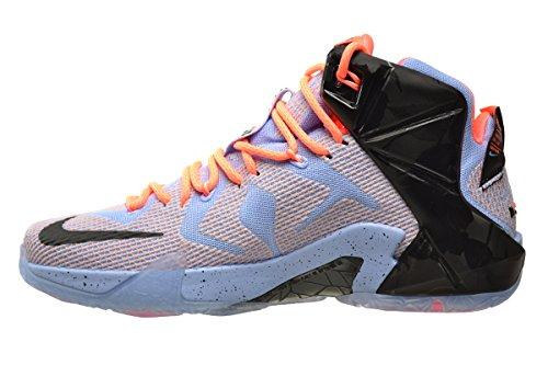 e0e6413b6dbe2 Nike Lebron XII Easter Mens' Shoes Aluminium/Sunset Glow-Hot Lava-Black  684593-488