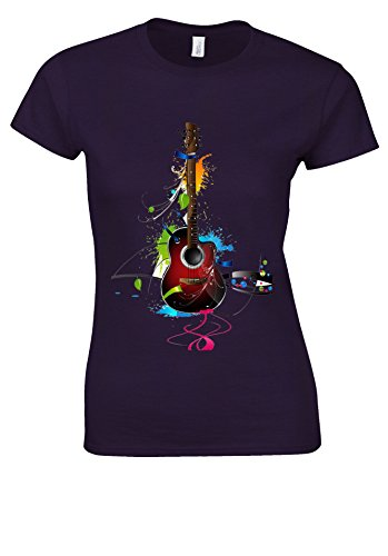 マティス魔女マラソンColourful Guitar Cool Music White Women T Shirt Top
