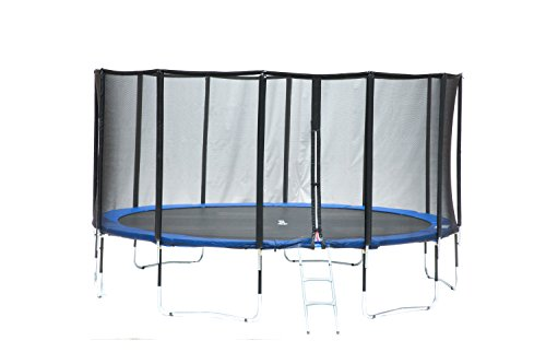 Exacme 6183-L015 Luxury Fibre Pole 15' Round Trampoline 6W Legs Enclosure Net & Safety Pad