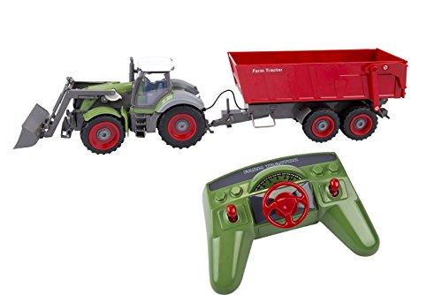 Riesiger XXL RC ferngesteuerter Traktor mit Anhänger Trecker