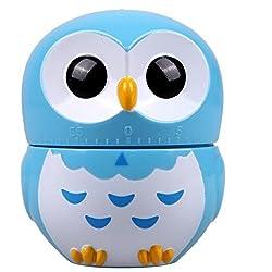 Owl Timer Mechanical Kitchen Timer,reminder (Blue)