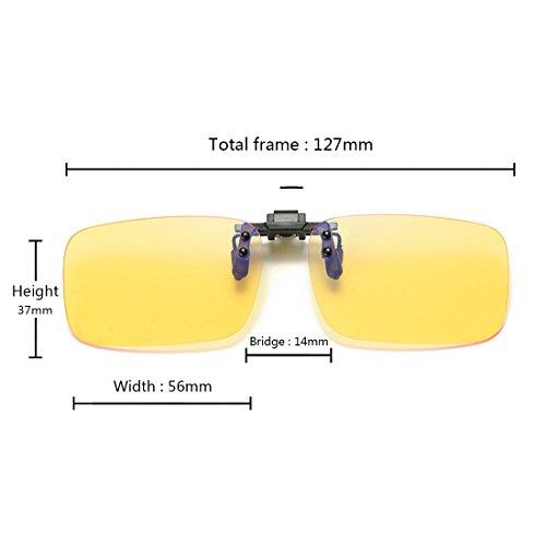de UV sol de conducción función Amarillo y antideslizante con Gafas clip 400 MUCHAO polarizadas gafas FS7wc