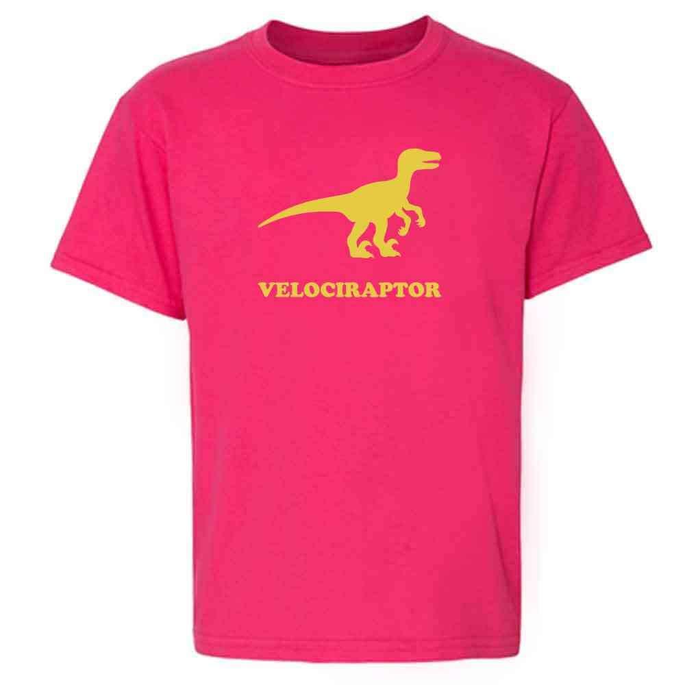 Pop Threads Velociraptor Retro Dinosaur Toddler Kids T-Shirt