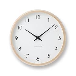 Lemnos Campagne radio clock Natural PC10-24W NT (Japan model, Japanese language only)
