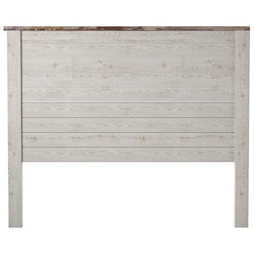 Bedroom Signature Design by Ashley Willowton Cottage Farmhouse Panel Headboard ONLY, Queen, Whitewash farmhouse headboards