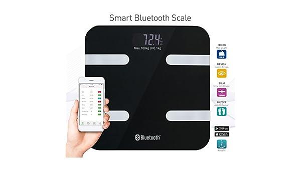 Deluxa Smart bluetooth personenweegschaal (zwart): Amazon.es: Salud y cuidado personal