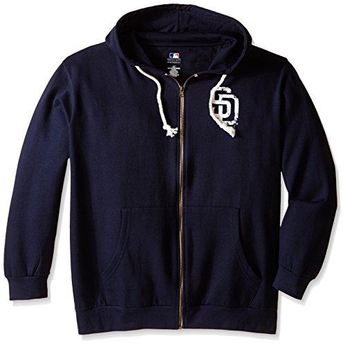 - MLB San Diego Padres Women's Plus Size Zip Hood with Logo, 3X, Navy
