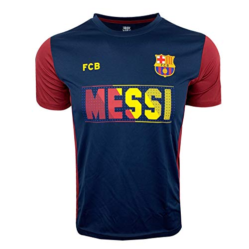Messi T-Shirt for Kids, Official Barcelona Soccer Shirt Lionel Messi (Youth Medium 7-9 Years) Blue