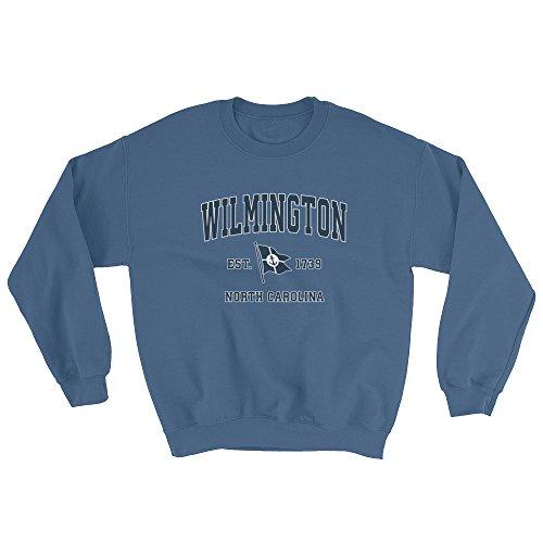 Jim Shorts Wilmington North Carolina NC Sweatshirt - Vintage Boat Anchor Flag Design by Jim Shorts