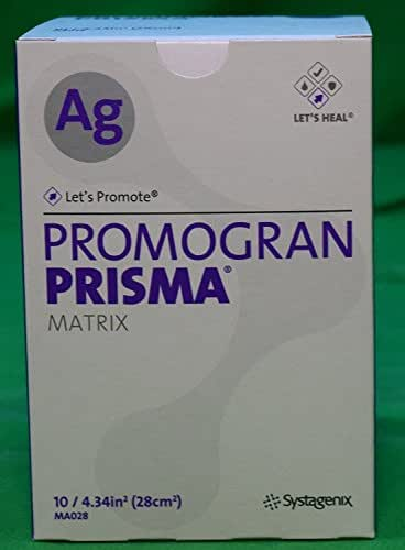 Box 10 Wound Care Dressings Systagenix Promogran Prisma Ag #MA028 - Matrix Dressing with Silver