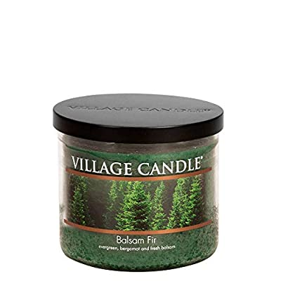 Village Candle Balsam Fir 17 oz Glass Bowl Scented Candle, Medium
