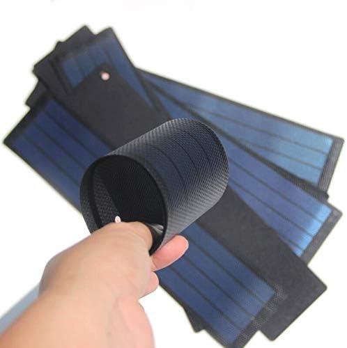 2W 6V柔軟な非晶質シリコン薄膜太陽電池パネル、DIYソーラーパネル、Curlable、屋外モバイルパワーバンク、家族旅行(1個)