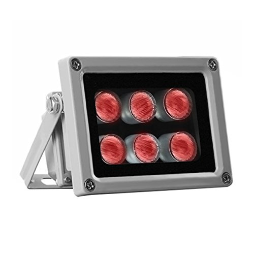 IR Illuminator for Night-vision 850nm 6 Leds 60 Degree Wide Angle Waterproof LED Infrared Light for Security Camera