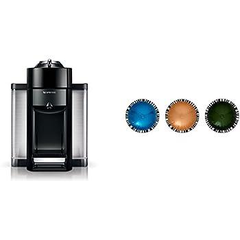 Nespresso Evoluo by De'Longhi, Black and Vertuoline Best Seller Pods, 30 ct