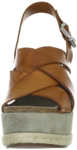 Manas daniela 121D2411V - Sandalias de vestir de cuero para mujer Marrón (Cuoio)
