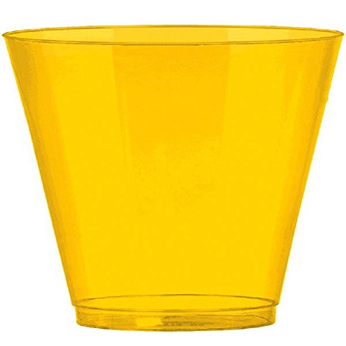(Big Party Pack Sunshine Yellow Plastic Cups | 9 oz. | Pack of 72 | Party Supply)
