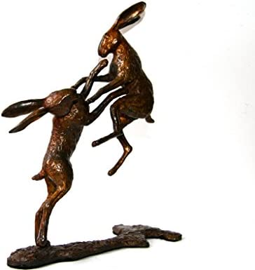Hot Cast Solid Bronze Watching Hare