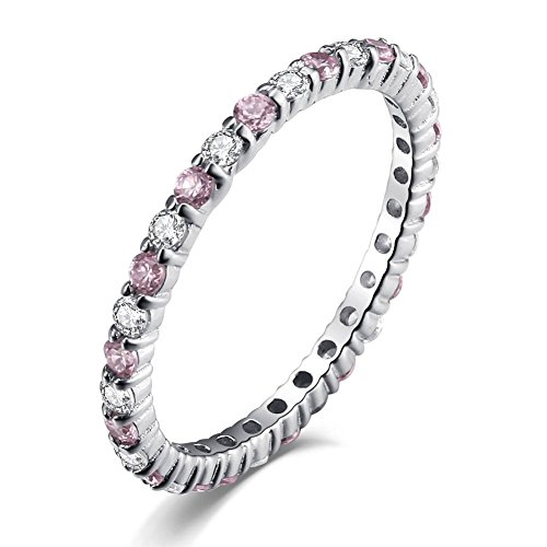 Caperci-925-Sterling-Silver-Created-Pink-Sapphire-and-Cubic-Zirconia-Wedding-Band-Eternity-Ring-2mm