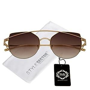 Double Bridge Cat Eye Style Gradient Lens Sunglasses for Women