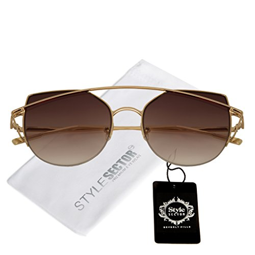 Double Bridge Cat Eye Style Gradient Lens Sunglasses for - Cat Kardashian