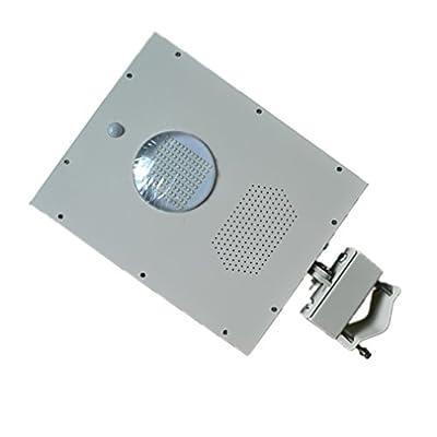 Zesol 4pcs 12w LED Solar Street Light,6000k Cold White,solar Sensor Light,18w Solar Panel 9ah Battery All in One,integrated Outdoor Solar Light, Ip65 Waterproof(pack of 4)