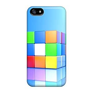 Special AnnetteL Skin Case Cover For Iphone 5/5s, Popular Colorful Cubic Phone Case