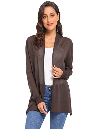 (Abollria Long Open Front Lightweight Breathable Cardigans Sweaters)