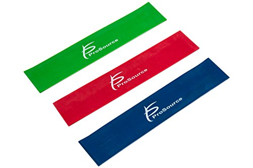 ProSource bucle Bandas de Resistencia Juego de 3, 2-inch Amplio para ejercicios de pierna y terapia física