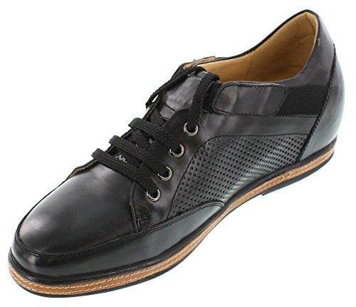 Toto D23003-2.6 Pulgadas Taller - Zapatillas Elevadoras Que AuHombrestan La Altura - Cordones Negros