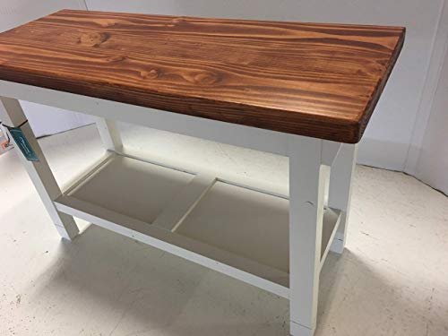 Hallway Mud Room Foyer Bench in Your Choice of Color and Size 30 Inches to 46 Inches (Entryway Bench Inch 30)
