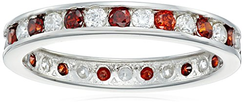 Sterling-Silver-Ruby-and-White-Cubic-Zirconia-2mm-Channel-Set-Ring-Size-7