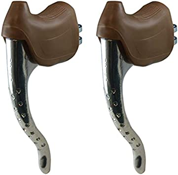 Brake lever kit rests cocotte guidoline sheath cable velo cycle brown
