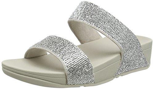 Fitflop Ladies Electra Micro Sandali Slide Argentati