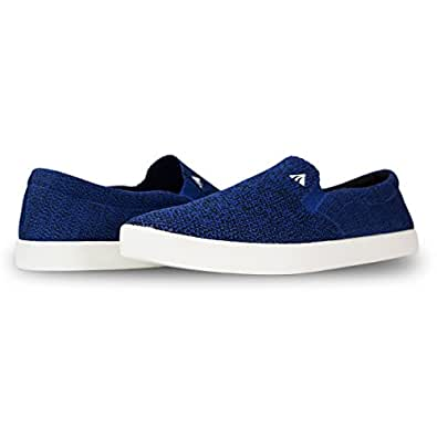 Tyler Men's Slip On Shoes - Men's Lightweight Comfortable Slip-on Sneakers,Multi Blue,8 D(M) US