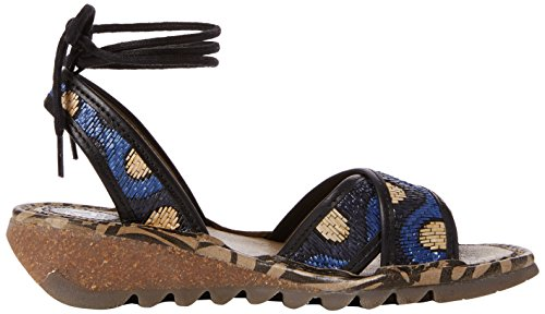 Blue Mujer Fly Beige 001 Sandalias P500707001 de London Black as Multicolor Cu zYqgzwr