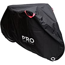 Pro Bike Cover for Outdoor Bicycle Storage - Large 1, XL 1-2, XXL 2-3 bikes - Heavy Duty Ripstop Material, Waterproof & Anti-UV - Protection from All Weather Conditions for Mountain & Road Bikes