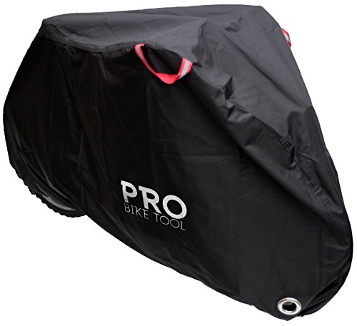 Pro Bike Cover for Outdoor Bicycle Storage - Large - Heavy Duty Ripstop Material, Waterproof & Anti-UV - Protection from All Weather Conditions for Mountain, 29er, Road, Cruiser & Hybrid Bikes