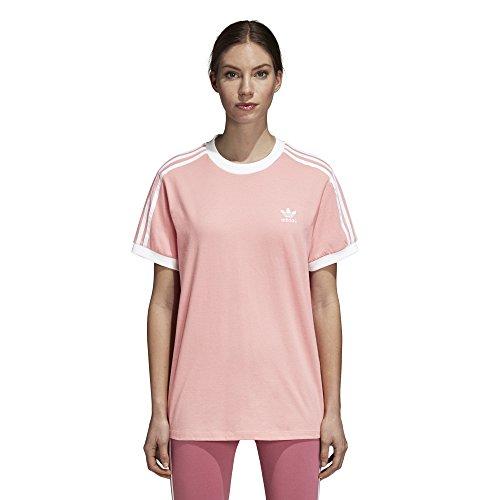 adidas Originals Women's 3 Stripes T-Shirt, Tactile Rose, L