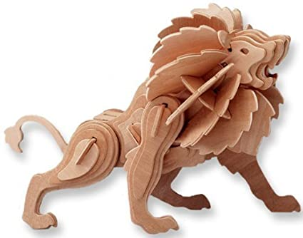 amazon com 3 d wooden puzzle lion affordable gift for your