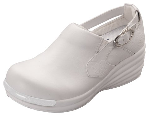 Dickies VICTORY Women's Axiom Side Buckle Clog Embossed White 9.5 M US