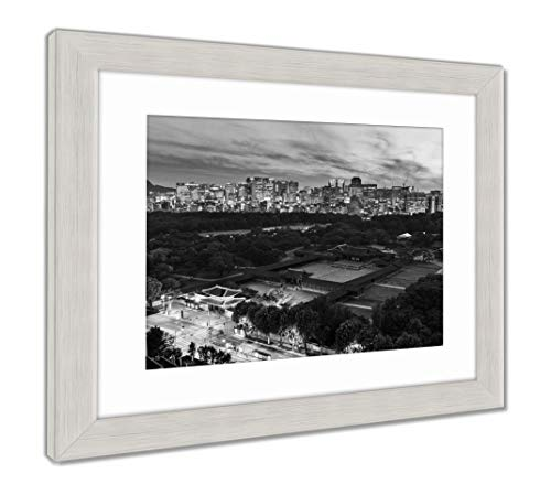 - Ashley Framed Prints Historical Grand Palace in Seoul City, Wall Art Home Decoration, Black/White, 34x40 (Frame Size), Silver Frame, AG5888122