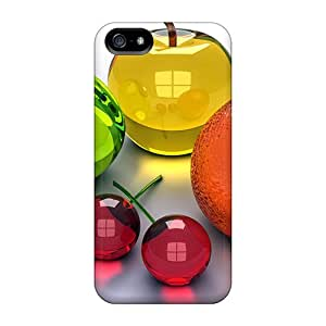 5/5s Scratch-proof Protection Case Cover For Iphone/ Hot Cristal Fruits Phone Case
