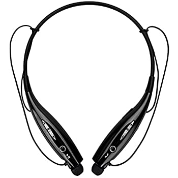 a1232e8ffed Wireless Bluetooth Music Sports Headset, with Stereo Bass Vibration  Neckband Style Earphone Headphone for Cellphones iPhone, Nokia, HTC,  Samsung, LG, Moto, ...
