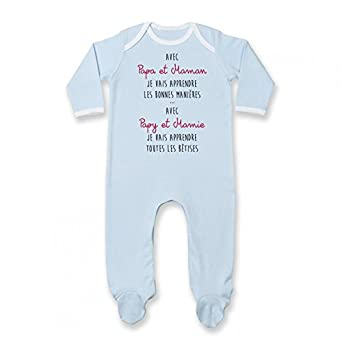 Pyjama b/éb/é avec Papy et Mamie japprends Les b/êtises