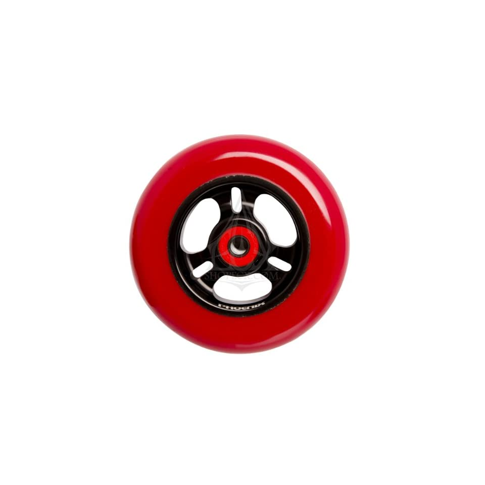 Phoenix 3 Spoke Wheel Black Red 110mm
