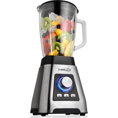 Premium 3-Speed Pulverizer/Professional Blender, Black/Silver by SuperFood