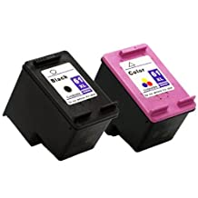 Remanufactured HP 61XL Black (CH563WN) and HP 61XL Color (CH564WN) - 2 Pack for HP Printers Deskjet 1000 Deskjet 1050 Deskjet 2050 Deskjet 3000 Deskjet 3050 Deskjet 3050A Deskjet 3054